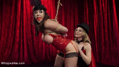 Photo number 4 from Make That Dick Disappear: Bombshell Christina Carter Returns!  shot for Whipped Ass on Kink.com. Featuring Mona Wales and Christina Carter in hardcore BDSM & Fetish porn.