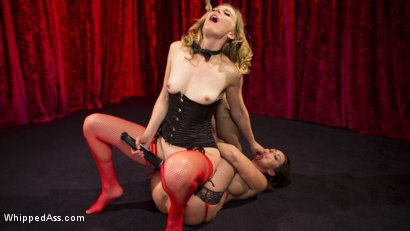 Photo number 6 from Make That Dick Disappear: Bombshell Christina Carter Returns!  shot for Whipped Ass on Kink.com. Featuring Mona Wales and Christina Carter in hardcore BDSM & Fetish porn.