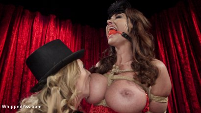Photo number 9 from Make That Dick Disappear: Bombshell Christina Carter Returns!  shot for Whipped Ass on Kink.com. Featuring Mona Wales and Christina Carter in hardcore BDSM & Fetish porn.