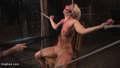 Photo number 1 from Ariel X is Tormented in Brutal Bondage and Double Penetrated shot for Hogtied on Kink.com. Featuring Ariel X and The Pope in hardcore BDSM & Fetish porn.