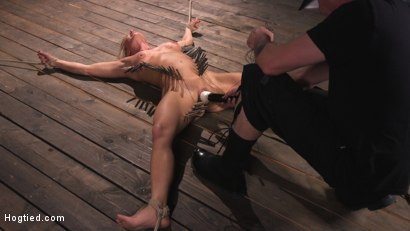 Photo number 11 from Ariel X is Tormented in Brutal Bondage and Double Penetrated shot for Hogtied on Kink.com. Featuring Ariel X and The Pope in hardcore BDSM & Fetish porn.