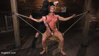 Photo number 3 from Ariel X is Tormented in Brutal Bondage and Double Penetrated shot for Hogtied on Kink.com. Featuring Ariel X and The Pope in hardcore BDSM & Fetish porn.