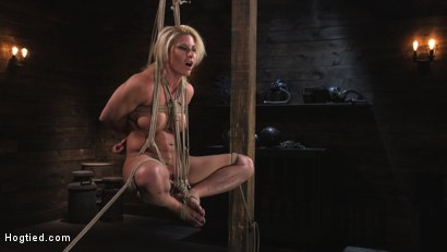 Photo number 5 from Ariel X is Tormented in Brutal Bondage and Double Penetrated shot for Hogtied on Kink.com. Featuring Ariel X and The Pope in hardcore BDSM & Fetish porn.