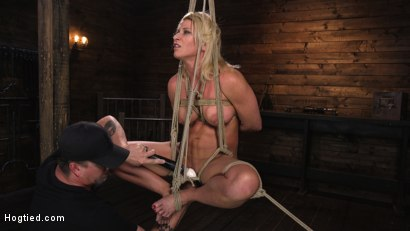 Photo number 6 from Ariel X is Tormented in Brutal Bondage and Double Penetrated shot for Hogtied on Kink.com. Featuring Ariel X and The Pope in hardcore BDSM & Fetish porn.