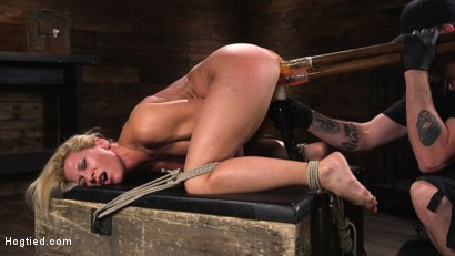 Photo number 8 from Ariel X is Tormented in Brutal Bondage and Double Penetrated shot for Hogtied on Kink.com. Featuring Ariel X and The Pope in hardcore BDSM & Fetish porn.