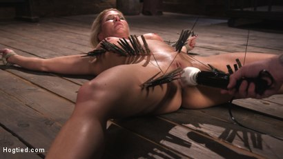 Photo number 10 from Ariel X is Tormented in Brutal Bondage and Double Penetrated shot for Hogtied on Kink.com. Featuring Ariel X and The Pope in hardcore BDSM & Fetish porn.