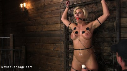 Photo number 4 from Taking One For the Team shot for Device Bondage on Kink.com. Featuring Ariel X and The Pope in hardcore BDSM & Fetish porn.