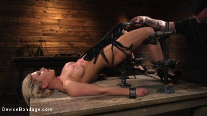 Photo number 8 from Taking One For the Team shot for Device Bondage on Kink.com. Featuring Ariel X and The Pope in hardcore BDSM & Fetish porn.