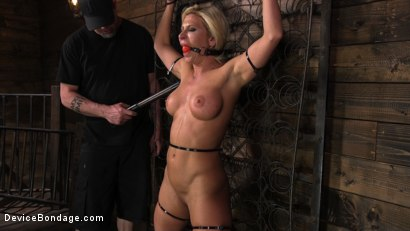 Photo number 9 from Taking One For the Team shot for Device Bondage on Kink.com. Featuring Ariel X and The Pope in hardcore BDSM & Fetish porn.