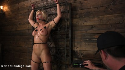 Photo number 10 from Taking One For the Team shot for Device Bondage on Kink.com. Featuring Ariel X and The Pope in hardcore BDSM & Fetish porn.