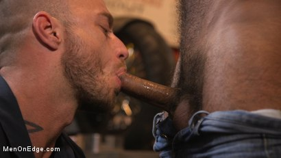 Photo number 3 from Hot biker gets edged in the motorcycle garage shot for Men On Edge on Kink.com. Featuring Ali Liam in hardcore BDSM & Fetish porn.