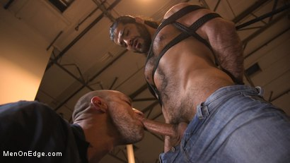 Photo number 5 from Hot biker gets edged in the motorcycle garage shot for Men On Edge on Kink.com. Featuring Ali Liam in hardcore BDSM & Fetish porn.