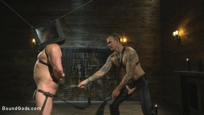 Photo number 8 from Self-Reflection shot for Bound Gods on Kink.com. Featuring Christian Wilde and Jacob Durham in hardcore BDSM & Fetish porn.