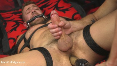 Photo number 10 from Hot new stud with a beautiful cock gets edged and fucked to cum! shot for Men On Edge on Kink.com. Featuring Jay Austin in hardcore BDSM & Fetish porn.