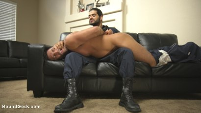 Photo number 3 from All Play, No Work shot for Bound Gods on Kink.com. Featuring Ali Liam  and Dominic Pacifico in hardcore BDSM & Fetish porn.