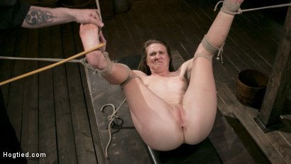 Photo number 14 from Extreme Domination and Torment in Mind Blowing Bondage shot for Hogtied on Kink.com. Featuring Ashley Lane and The Pope in hardcore BDSM & Fetish porn.