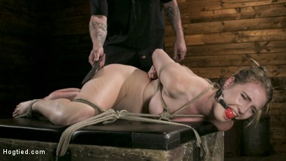 Photo number 5 from Extreme Domination and Torment in Mind Blowing Bondage shot for Hogtied on Kink.com. Featuring Ashley Lane and The Pope in hardcore BDSM & Fetish porn.