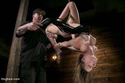 Photo number 7 from Extreme Domination and Torment in Mind Blowing Bondage shot for Hogtied on Kink.com. Featuring Ashley Lane and The Pope in hardcore BDSM & Fetish porn.