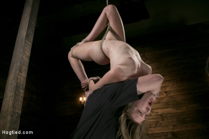 Photo number 9 from Extreme Domination and Torment in Mind Blowing Bondage shot for Hogtied on Kink.com. Featuring Ashley Lane and The Pope in hardcore BDSM & Fetish porn.