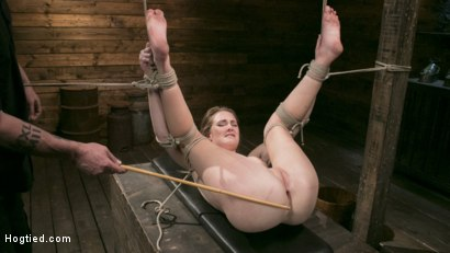 Photo number 13 from Extreme Domination and Torment in Mind Blowing Bondage shot for Hogtied on Kink.com. Featuring Ashley Lane and The Pope in hardcore BDSM & Fetish porn.
