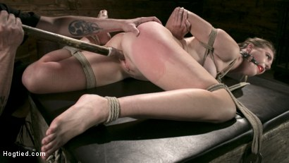 Photo number 8 from Extreme Domination and Torment in Mind Blowing Bondage shot for Hogtied on Kink.com. Featuring Ashley Lane and The Pope in hardcore BDSM & Fetish porn.