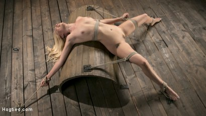 Photo number 1 from Sexy Blonde Mistress Submits to Rope Bondage and Suffering shot for Hogtied on Kink.com. Featuring Lyra Law and The Pope in hardcore BDSM & Fetish porn.