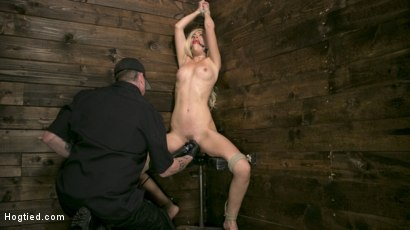 Photo number 2 from Sexy Blonde Mistress Submits to Rope Bondage and Suffering shot for Hogtied on Kink.com. Featuring Lyra Law and The Pope in hardcore BDSM & Fetish porn.