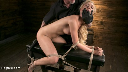 Photo number 13 from Sexy Blonde Mistress Submits to Rope Bondage and Suffering shot for Hogtied on Kink.com. Featuring Lyra Law and The Pope in hardcore BDSM & Fetish porn.