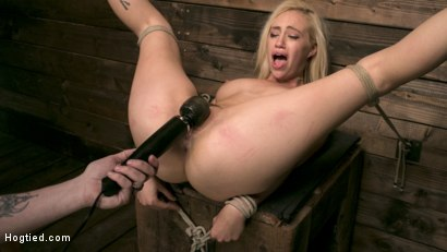 Photo number 15 from Sexy Blonde Mistress Submits to Rope Bondage and Suffering shot for Hogtied on Kink.com. Featuring Lyra Law and The Pope in hardcore BDSM & Fetish porn.