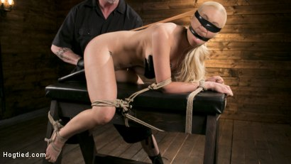 Photo number 7 from Sexy Blonde Mistress Submits to Rope Bondage and Suffering shot for Hogtied on Kink.com. Featuring Lyra Law and The Pope in hardcore BDSM & Fetish porn.