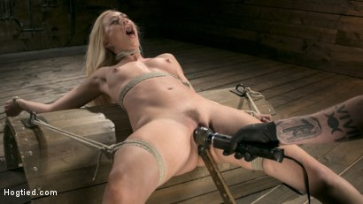 Photo number 9 from Sexy Blonde Mistress Submits to Rope Bondage and Suffering shot for Hogtied on Kink.com. Featuring Lyra Law and The Pope in hardcore BDSM & Fetish porn.