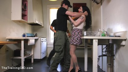 Photo number 2 from Domestic Training: Arabelle Raphael shot for The Training Of O on Kink.com. Featuring Mr. Pete and Arabelle Raphael in hardcore BDSM & Fetish porn.