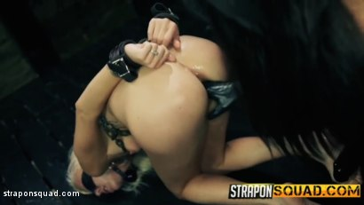 Photo number 13 from Halle Von Endures Lesbian Domination & Rough Sex with Marina Angel shot for Strapon Squad on Kink.com. Featuring Halle Von and Marina Angel in hardcore BDSM & Fetish porn.