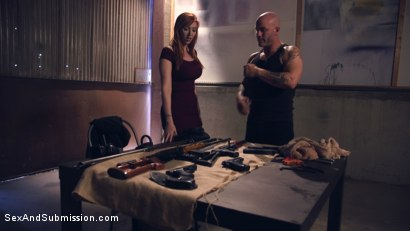 Photo number 2 from A Warm Gun shot for Sex And Submission on Kink.com. Featuring Lauren Phillips and Derrick Pierce in hardcore BDSM & Fetish porn.