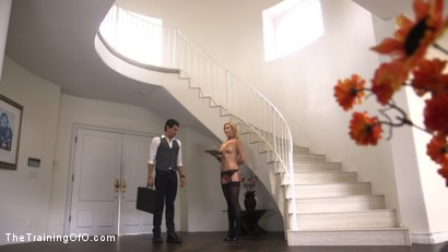 Photo number 2 from All Natural Blonde Teen Gets Trained to Fuck, Suck, and Serve Her Master: Summer Day  shot for The Training Of O on Kink.com. Featuring Xander Corvus and Summer Day in hardcore BDSM & Fetish porn.