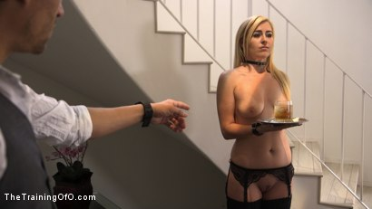 Photo number 3 from All Natural Blonde Teen Gets Trained to Fuck, Suck, and Serve Her Master: Summer Day  shot for The Training Of O on Kink.com. Featuring Xander Corvus and Summer Day in hardcore BDSM & Fetish porn.