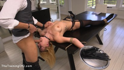 Photo number 6 from All Natural Blonde Teen Gets Trained to Fuck, Suck, and Serve Her Master: Summer Day  shot for The Training Of O on Kink.com. Featuring Xander Corvus and Summer Day in hardcore BDSM & Fetish porn.
