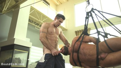 Photo number 6 from Old Habits Die Hard - Creepy Handyman Series shot for Bound Gods on Kink.com. Featuring Steven Roman  and Trenton Ducati in hardcore BDSM & Fetish porn.