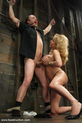 Photo number 5 from Billy and Gia Darling shot for TS Seduction on Kink.com. Featuring Gia Darling and Billy in hardcore BDSM & Fetish porn.