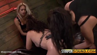Photo number 4 from Pain Slut Aryah May Begs Brooklyn Daniels & Mila Blaze for Lesbian Domination shot for Strapon Squad on Kink.com. Featuring Aryah May, Brooklyn Daniels and Mila Blaze in hardcore BDSM & Fetish porn.