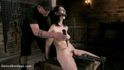 Photo number 13 from Fresh Meat - Alex Harper Gets Her 1st Taste of Domination and Bondage shot for Device Bondage on Kink.com. Featuring Alex Harper and The Pope in hardcore BDSM & Fetish porn.