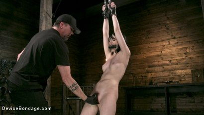 Photo number 4 from Fresh Meat - Alex Harper Gets Her 1st Taste of Domination and Bondage shot for Device Bondage on Kink.com. Featuring Alex Harper and The Pope in hardcore BDSM & Fetish porn.