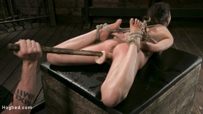 Photo number 14 from All Natural Bondage Slut Endures Torment and Suffering with Squirting Orgasms!! shot for Hogtied on Kink.com. Featuring Melissa Moore and The Pope in hardcore BDSM & Fetish porn.