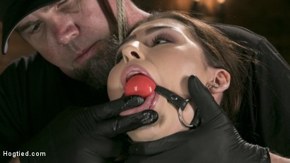 Photo number 4 from All Natural Bondage Slut Endures Torment and Suffering with Squirting Orgasms!! shot for Hogtied on Kink.com. Featuring Melissa Moore and The Pope in hardcore BDSM & Fetish porn.