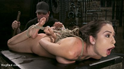 Photo number 9 from All Natural Bondage Slut Endures Torment and Suffering with Squirting Orgasms!! shot for Hogtied on Kink.com. Featuring Melissa Moore and The Pope in hardcore BDSM & Fetish porn.