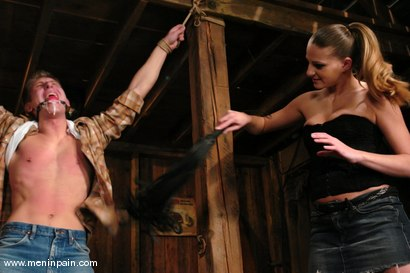 Photo number 3 from Danny Wylde and Nikki Nievez shot for Men In Pain on Kink.com. Featuring Nikki Nievez and Danny Wylde in hardcore BDSM & Fetish porn.