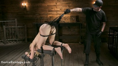 Photo number 3 from Naked and Afraid shot for Device Bondage on Kink.com. Featuring Alexa Grace  and The Pope in hardcore BDSM & Fetish porn.