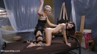 Photo number 22 from The Making of a Good Girl: Renovator Becomes Submissive Anal Whore  shot for Whipped Ass on Kink.com. Featuring Helena Locke and Kacie Castle in hardcore BDSM & Fetish porn.
