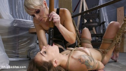 Photo number 28 from The Making of a Good Girl: Renovator Becomes Submissive Anal Whore  shot for Whipped Ass on Kink.com. Featuring Helena Locke and Kacie Castle in hardcore BDSM & Fetish porn.
