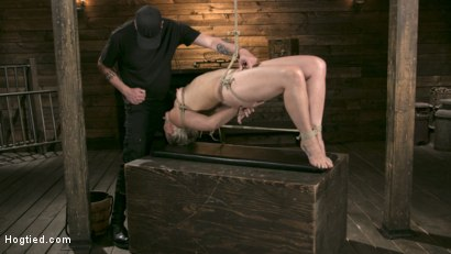 Photo number 11 from Blonde Goddess is Destroyed in Devastating Predicament Bondage shot for Hogtied on Kink.com. Featuring Dylan Ryan and The Pope in hardcore BDSM & Fetish porn.
